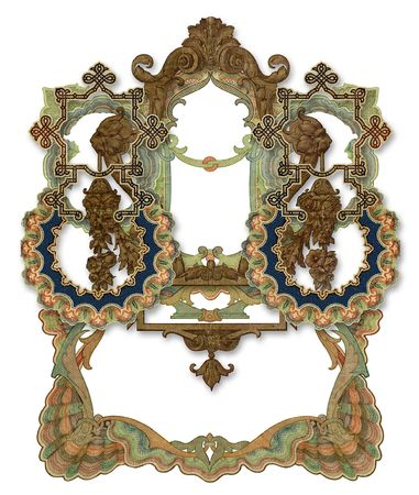 Luxuusly illustrated old colored victorian frame. Stock Photo - 5891851