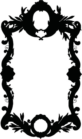 Silhouette Luxuriously illustrated old victorian frame. Stock Vector - 6019950