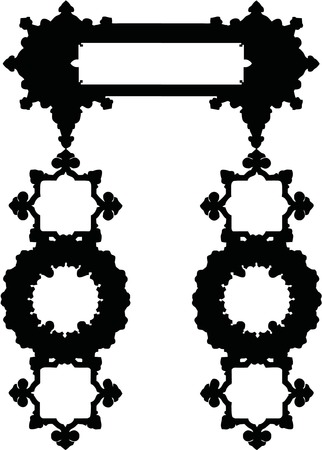 Silhouette Luxuriously illustrated old victorian frame.