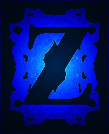 Neon capital letter Z. Stock Photo - 6171316