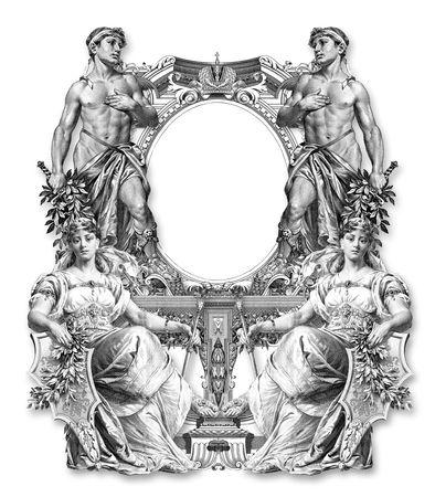 ermine: Antiguo marco victoriana dos de hombre y mujer dos