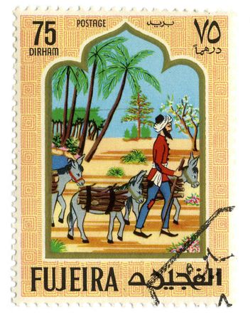 sociologist: Fujeria circa 1967. A stamp printed in Fujeira shows image of the story.
