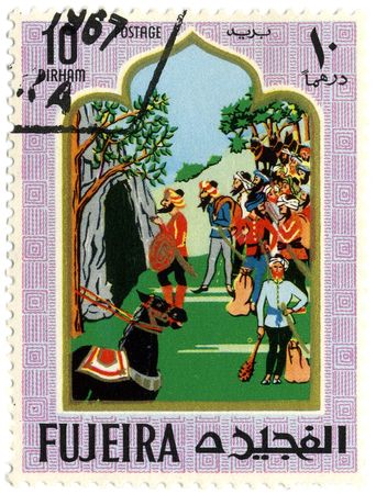 Fujeria circa 1967. A stamp printed in Fujeira shows image of the story. Stock Photo - 6889705