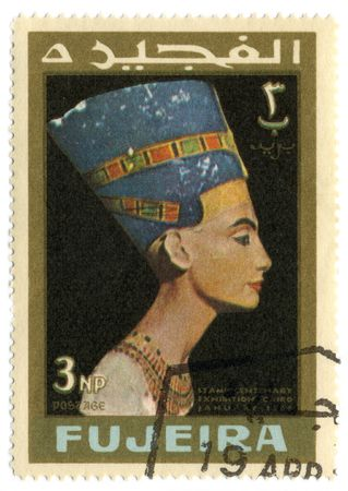 FUJEIRA - CIRCA 1966: A stamp printed in FUJEIRA shows image of the Old Egypt, circa 1966.