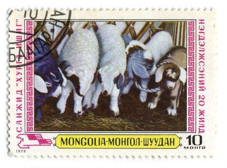 MONGOLIA - CIRCA 1979: A stamp printed in MONGOLIA shows the Agriculture Mongolia circa 1979.