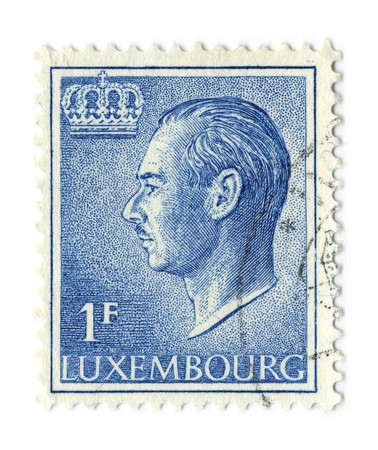 LUXEMBOURG - CIRCA 1965: An LUXEMBOURG Used Postage Stamp showing Portrait of Grand Duke Jean, circa 1965.