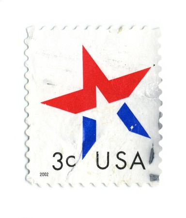 USA - CIRCA 2002: A stamp printed in USA shows image of the USA star, circa 2002. Stock Photo - 7006740