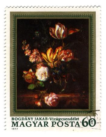 HUNGARY - CIRCA 1977: A stamp printed in HUNGARY shows Hungarian Painting circa 1977.