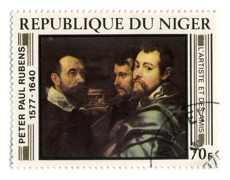 REPUBLIC OF NIGER - CIRCA 1977: A stamp printed in REPUBLIC OF NIGER shows paint by Sir Peter Paul Rubens circa 1977. Stock Photo - 7076882