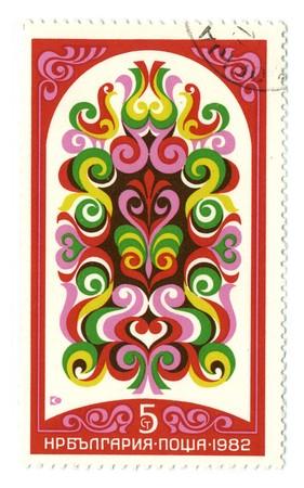 BULGARIA - CIRCA 1982: A stamp printed in BULGARIA shows image of the Bulgarian pattern state circa 1982.
