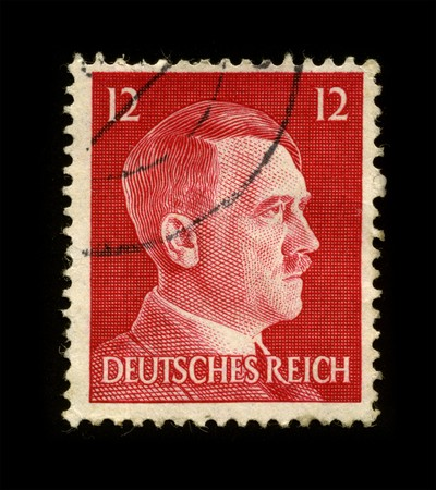 adolf hitler: GERMANY - CIRCA 1941: An GERMANY Used Postage Stamp showing Portrait of Adolf Hitler circa 1941.
