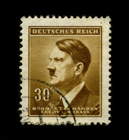 GERMANY - CIRCA 1942: An GERMANY Used Postage Stamp showing Portrait of Adolf Hitler circa 1942.