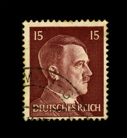 GERMANY - CIRCA 1941: An GERMANY Used Postage Stamp showing Portrait of Adolf Hitler circa 1941. Stock Photo - 7358089