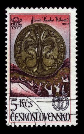 czechoslovakia: Czechoslovakia - CIRCA 1978: A stamp printed in Czechoslovakia shows image of the dedicated to the Ceramiks Czechoslovakia circa 1978.