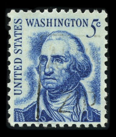 USA - CIRCA 1930: A stamp printed in USA shows Portrait President George Washington circa 1930.