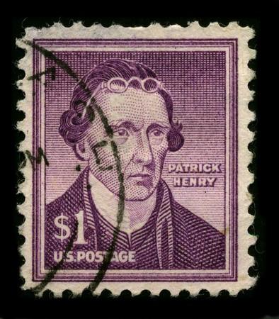 USA - CIRCA 1930: A stamp printed in USA shows Portrait Governor of Virginia Patrick Henry circa 1930.