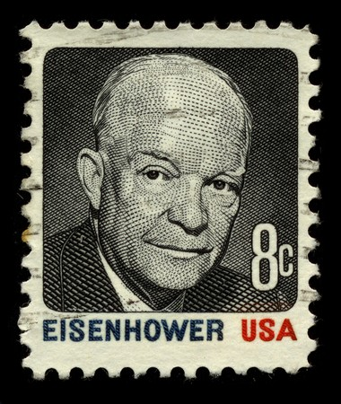 USA - CIRCA 1930: A stamp printed in USA shows Portrait President Dwight David Eisenhower circa 1930.