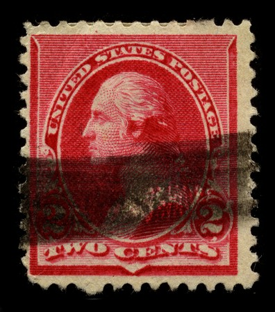 USA - CIRCA 1930: A stamp printed in USA shows Portrait President George Washington circa 1930. Stock Photo - 7659880