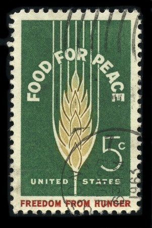 USA - CIRCA 1963: A stamp printed in USA shows image of the dedicated to the Food For Peace circa 1963.