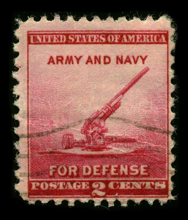 usps: USA - CIRCA 1930: A stamp printed in USA shows image of the dedicated to the Army and Navy circa 1930. Editorial