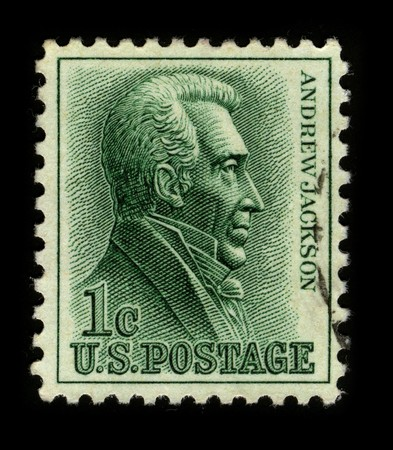 jackson: USA - CIRCA 1930: A stamp printed in USA shows image portrait Andrew Jackson the seventh President of the United States (1829-1837) circa 1930. Editorial