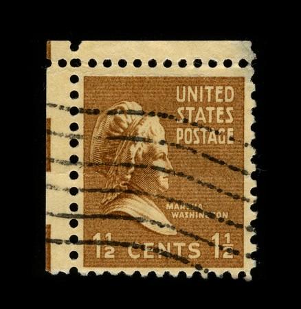 martha: USA - CIRCA 1930: A stamp printed in USA shows portrait Martha Washington circa 1930.