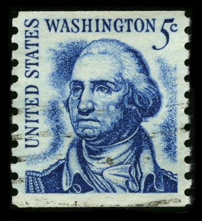 USA - CIRCA 1932: A stamp printed in USA shows image portrait George Washington (1732–1799), was the first president of the United States (1789–1797), circa 1932. Stock Photo - 7840465