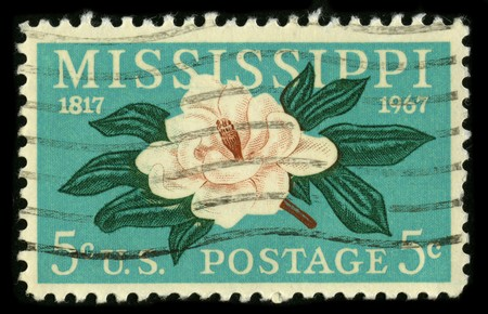 USA - CIRCA 1967: A stamp printed in USA shows image of the dedicated to the Mississippi circa 1967. Stock Photo - 7840471