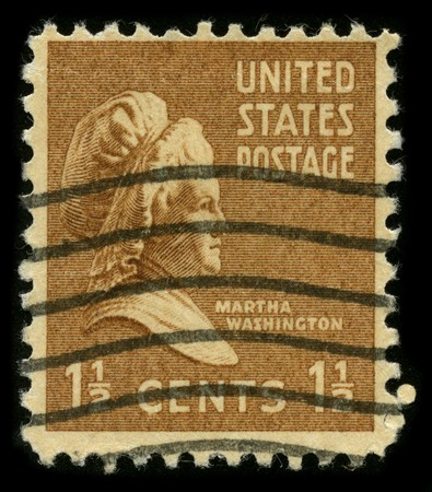martha: USA - CIRCA 1948: A stamp printed in USA shows portrait Martha Washington circa 1948. Editorial