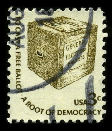 USA - CIRCA 1970: A stamp printed in USA shows image of the dedicated to the General Election Ballots circa 1970. Stock Photo - 7840487