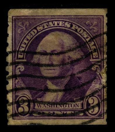 mediaval: USA - CIRCA 1932: A stamp printed in USA shows image portrait George Washington (1732�1799), was the first president of the United States (1789�1797), circa 1932. Editorial