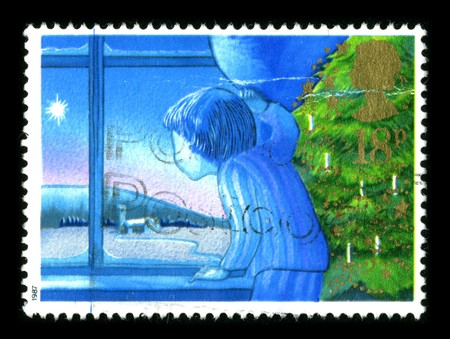 United Kingdom - CIRCA 1987: A stamp printed in United Kingdom shows image of the dedicated to the Christmas circa 1987. Stock Photo - 8150145