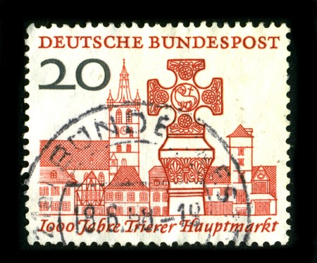 GERMANY - CIRCA 1988: A stamp printed in GERMANY shows image of the dedicated to the German Architecture circa 1980. Stock Photo - 8150169