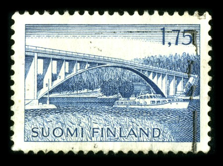 FINLAND - CIRCA 1980: A stamp printed in FINLAND shows image of the dedicated to the Architecture of Finland circa 1980. Stock Photo - 8322555