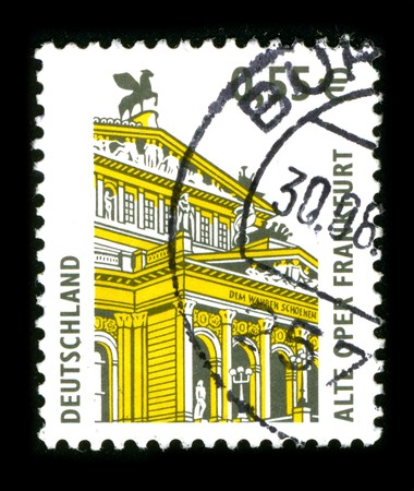 GERMANY - CIRCA 1988: A stamp printed in GERMANY shows image of the dedicated to the German Architecture circa 1980. Stock Photo - 8150155
