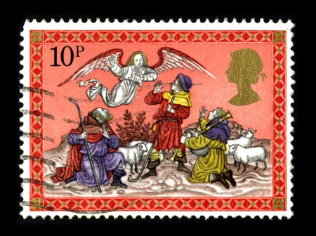 United Kingdom - CIRCA 1980: A stamp printed in United Kingdom shows image of the dedicated to the Christmas circa 1980.