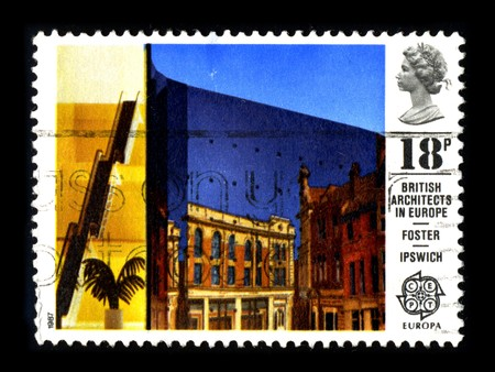 UNITED KINGDOM - CIRCA 1987: A stamp printed in UNITED KINGDOM shows image of the dedicated to the British Architects In Europe, circa 1987. Stock Photo - 8322550