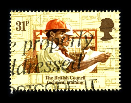 UNITED KINGDOM - CIRCA 1980: A stamp printed in UNITED KINGDOM shows image of the dedicated to the British Council Technical Training, circa 1980. Stock Photo - 8150166
