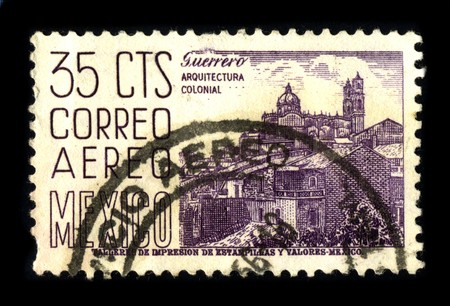 MEXICO - CIRCA 1980: A stamp printed in MEXICO shows image of the dedicated to the Colonial Architecture of Mexico circa 1980. Stock Photo - 8150177