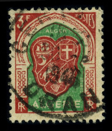 ALGERIA - CIRCA 1948: A stamp shows image of the dedicated to the Algiers is the capital and largest city of Algeria and the Maghreb, circa 1948. Stock Photo - 8322685