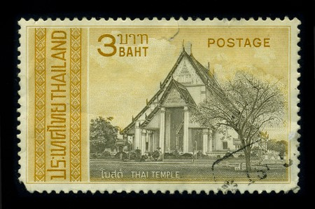 THAILAND - CIRCA 1980: A stamp printed in THAILAND shows image of the dedicated to the Thai Temple Art and Architecture from Buddhist temples in Thailand circa 1980. Stock Photo - 8322720
