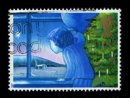 United Kingdom - CIRCA 1987: A stamp printed in United Kingdom shows image of the dedicated to the Christmas, circa 1987.