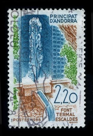 baile: ANDORRA-CIRCA 1988: A stamp printed in ANDORRA shows image of the dedicated to the Baile Andorra circa 1988.
