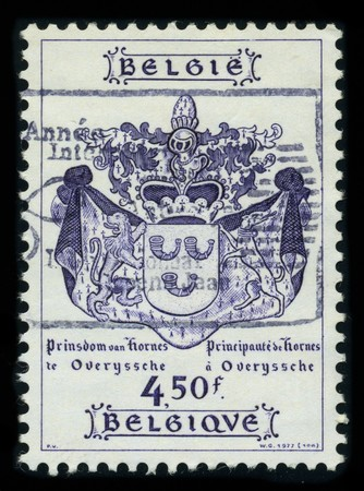 BELGIUM - CIRCA 1977: A stamp printed in BELGIUM shows image of the dedicated to the Coat Of Arms Belgium, circa 1977. Stock Photo - 8161103