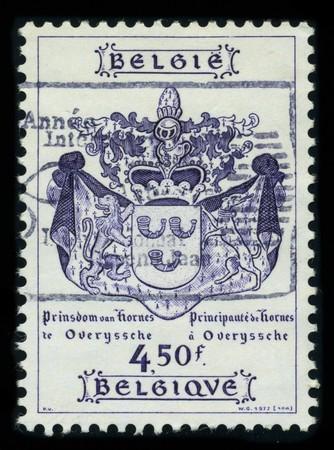BELGIUM - CIRCA 1977: A stamp printed in BELGIUM shows image of the dedicated to the Coat Of Arms Belgium, circa 1977. Stock Photo - 8161103