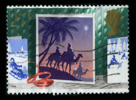 United Kingdom - CIRCA 1988: A stamp printed in United Kingdom shows image of the dedicated to the Christmas, circa 1988.
