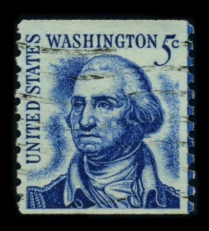 USA - CIRCA 1950: A stamp printed in USA shows image portrait George Washington (1732 -1799), was the first president of the United States (1789 -1797), circa 1950. Stock Photo - 8194309