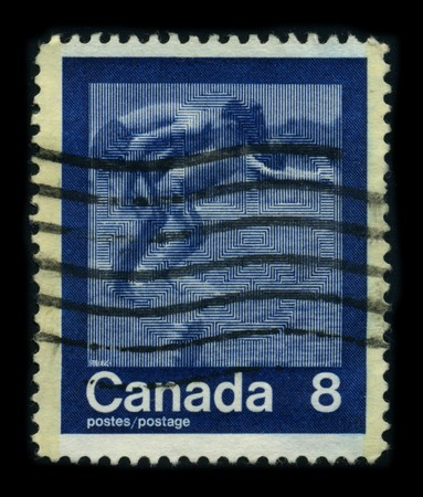 CANADA - CIRCA 1980: A stamp printed in CANADA shows image of the dedicated to the Swimmer, circa 1980. Stock Photo - 8194325