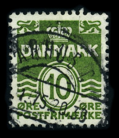 DENMARK - CIRCA 1978: A stamp printed in DENMARK shows image of the dedicated to the postage stamps and postal history of Denmark, circa 1978. Stock Photo - 8194293