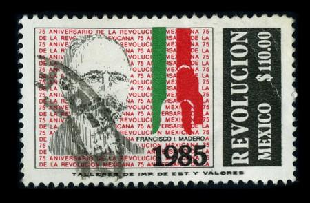 ignacio: MEXICO-CIRCA 1985: A stamp dedicated to the Francisco Ignacio Madero Gonzalez(October 30, 1873 - February 22, 1913) was a politician, writer and revolutionary who served as President of Mexico from 1911 to 1913, circa 1985.